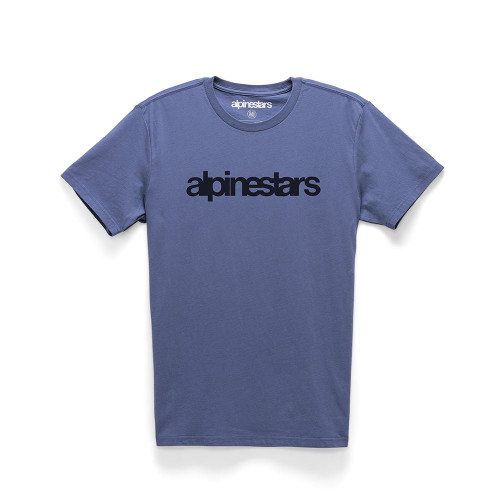 Alpinestars Men's T-Shirt ~ Heritage Word blue
