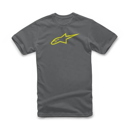 Alpinestars Men's T-Shirt ~ Ageless charcoal vis yellow