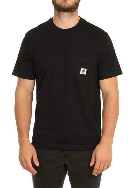 Element Men's T-Shirt ~ Basic Pocket Label flint black