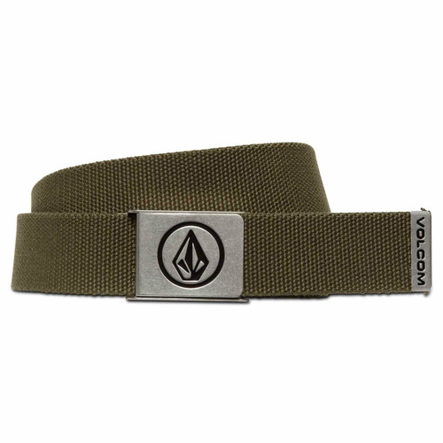 Volcom Woven  Web Belt With Bottle Opener ~ Circle military2