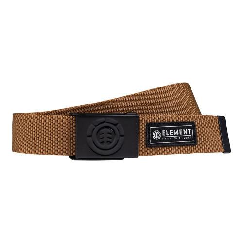 Element Men's Web Belt With Bottle Opener ~ Beyond golden brown