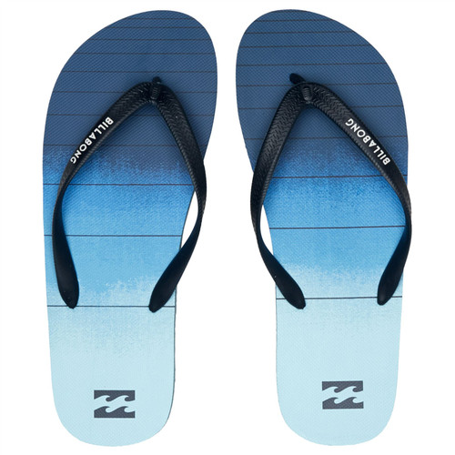 Billabong Water Resistant Mens Sandals ~ Tides 73 Stripe navy