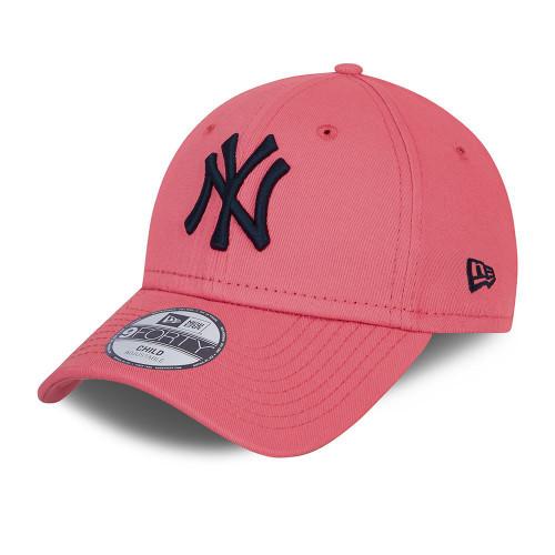 New Era Kids League Essential 9Forty Cap ~ New York Yankees pink