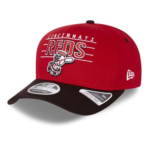 New Era Team Wordmark 9Fifty Snapback Stretch Cap ~ Cincinnati Reds