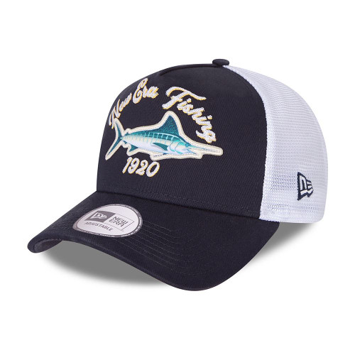 New Era Adjustable Snapback Trucker Cap ~ New Era Fishing  blue