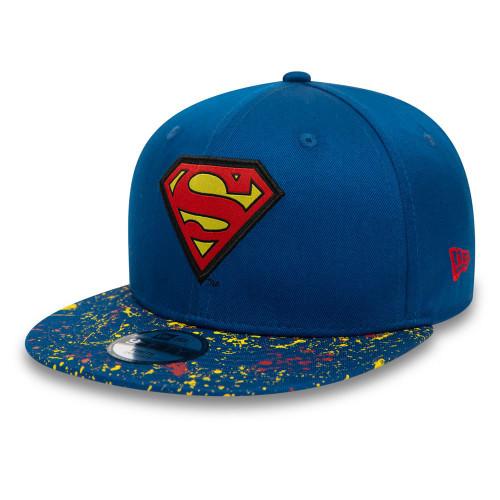 New Era Visor 9Fifty Kids Cap ~ Superman paint splat