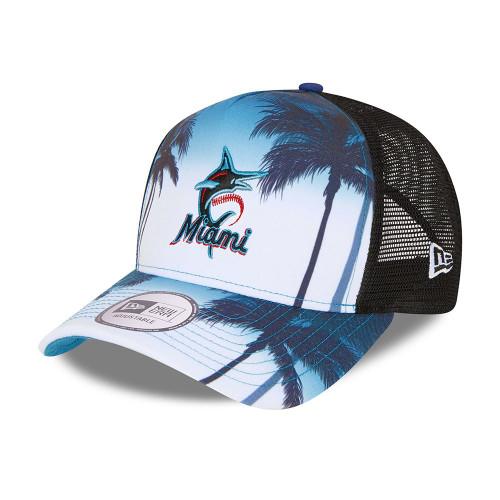 New Era Summer City Snapback Trucker Cap ~ Miami Marlins