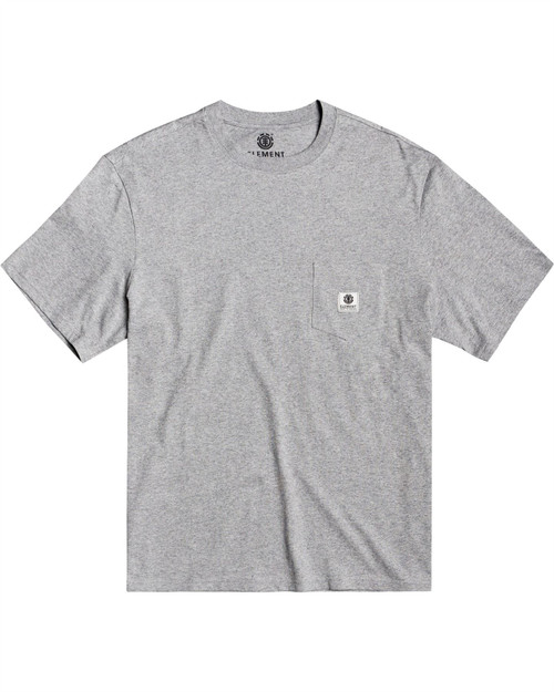 Element Men's T-Shirt ~ Basic Pocket Label charcoal heather
