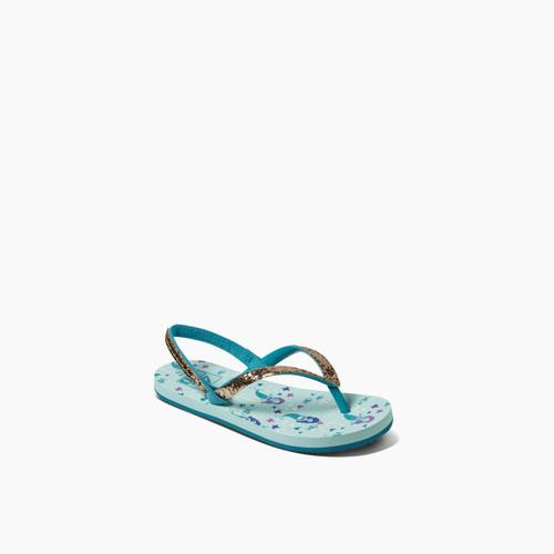Reef Kids Sandals ~ Little Stargazer Prints Aqua Mermaids
