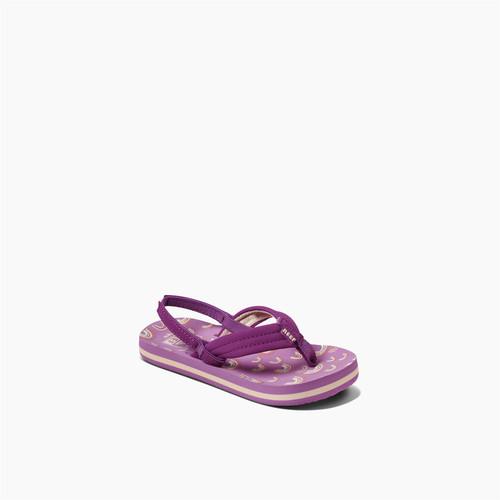 Reef Kids Sandals ~ Little Ahi Purple Rainbow