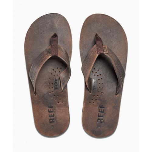 Reef Leather Men's Sandal with Bottle Opener ~ Draftsman chocolate