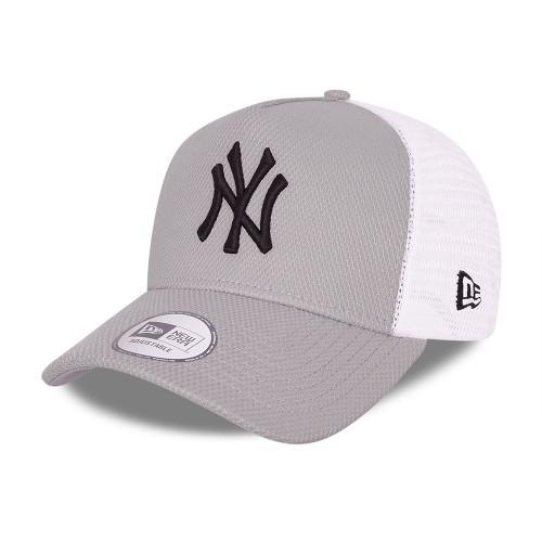 New Era Diamond Era Snapback Trucker Cap ~ 'New York Yankees' grey
