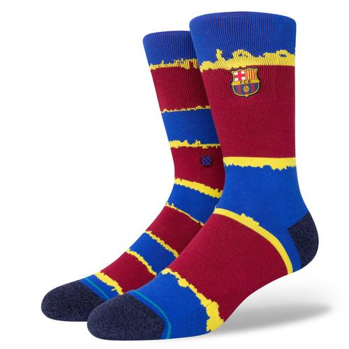 Stance Men's Socks Size L ~ FCB Stripe maroon