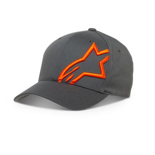 Alpinestars Men's Flexfit Cap ~ Corp Shift 2 charcoal orange