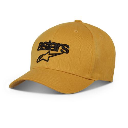 Alpinestars Men's Flexfit Cap ~ Heritage Blaze mustard black