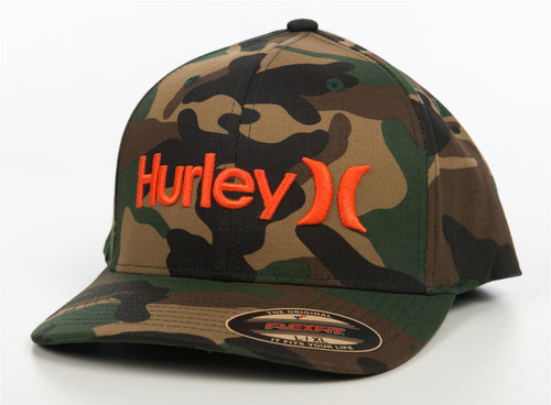Hurley Men's Flexfit Cap ~ Big Corp camo