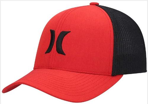 Hurley Men's Flexfit Cap ~ Icon Textures red