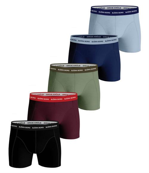 Bjorn Borg Men's Boxer Shorts 5 Pack ~ Essential multi