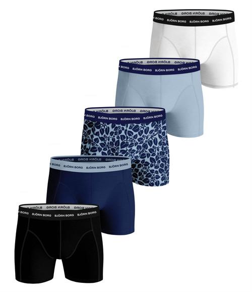 Bjorn Borg Men's Boxer Shorts 5 Pack ~ Essential blue
