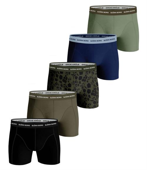 Bjorn Borg Men's Boxer Shorts 5 Pack ~ Essentials multi
