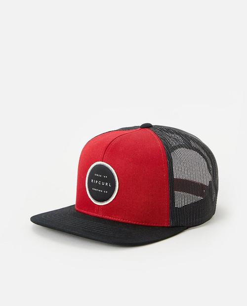 Rip Curl Men's Snapback Trucker Cap ~ Routine red