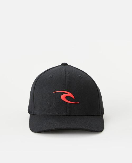 Rip Curl Men's Flexfit Cap ~ Tepan Weld black red