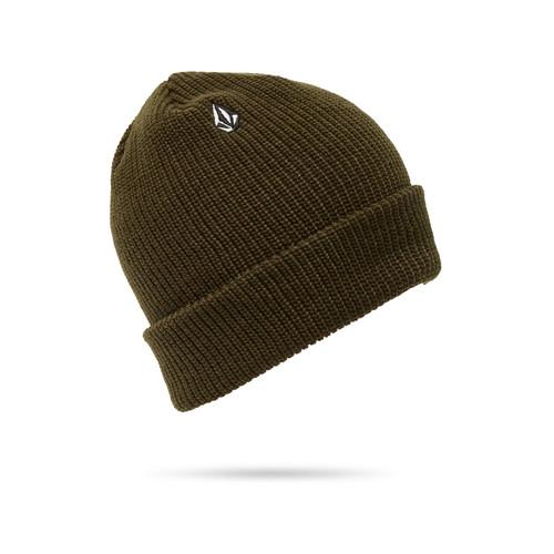 Volcom Men's Cuff Knit Beanie ~ Full Stone led