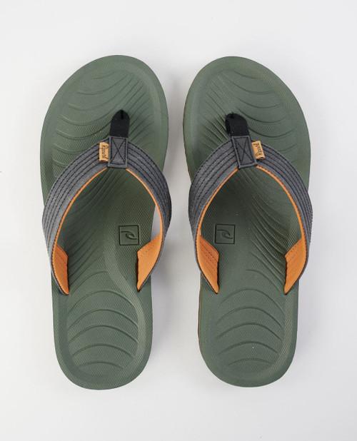 Rip Curl Men's Open Toe Sandals ~ Dbah Eco black olive