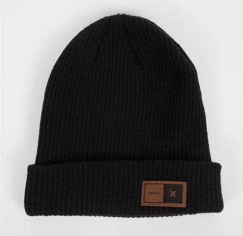 Hurley Men's Cuff Knit Beanie ~ Northridge black