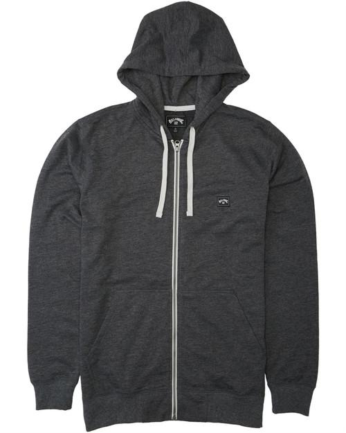 Billabong Men's Hooded Sweater ~ All Day Zip Hoodie black