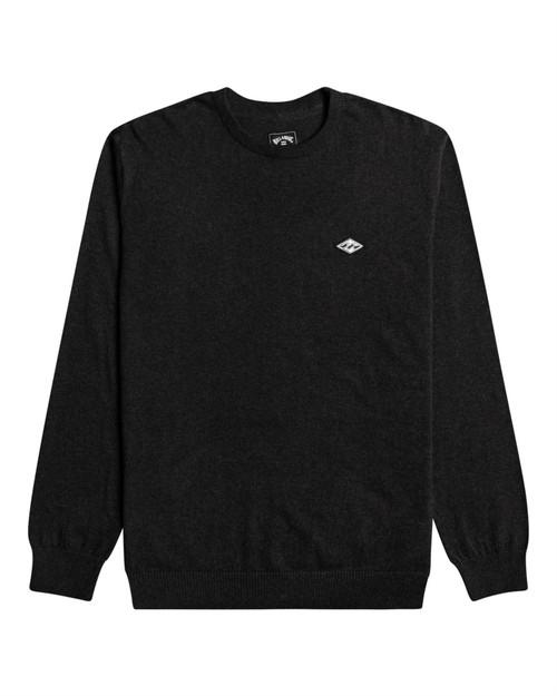 Billabong Men's Crew Heather Sweater ~ All Day  black