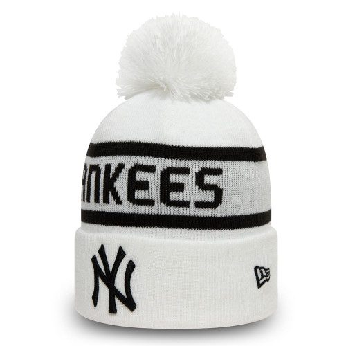 New Era Jake Cuff Knit Beanie ~ New York Yankees white