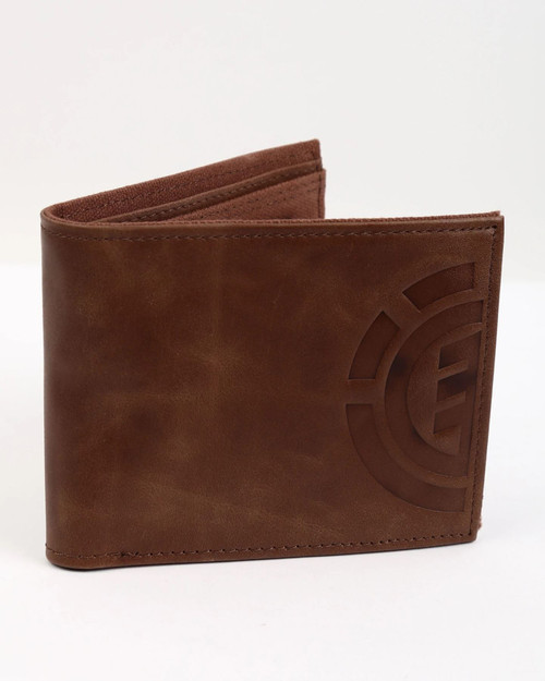Element Bifold Wallet with CC, Note and Coin Pockets ~ Daily Elite brown