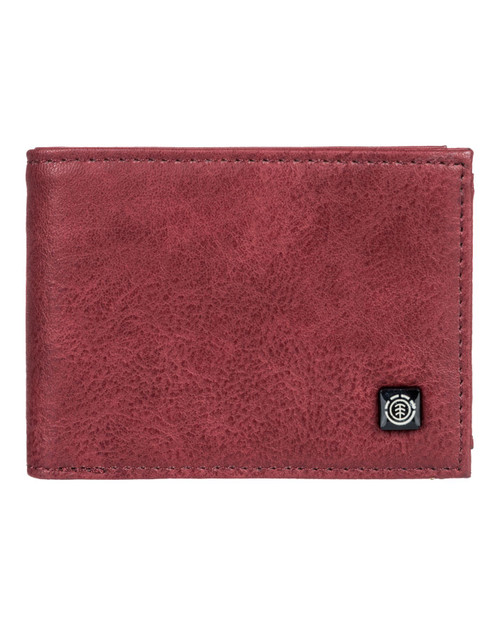 Element Bifold Wallet with CC, Note and Coin Pockets ~ Segur vintage red