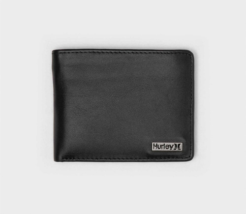 2 Hurley Bifold Wallets with CC, Note and Coin Pockets ~ One and Only black