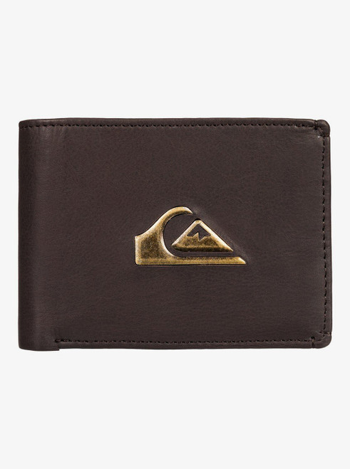 2 Quiksilver Men's Bifold Leather RFID Wallets ~ Miss Dollar II brown