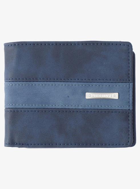 Quiksilver Men's Bifold Wallet ~ Arch Patch insignia blue