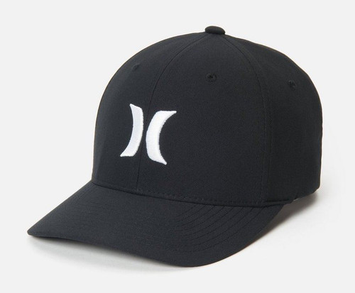 Hurley Men's Flexfit Cap ~ One and Only black white