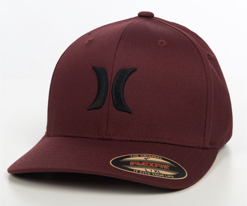 Hurley Men's Flexfit Cap ~ One and Only burgundy