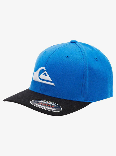 Quiksilver Men's Flexfit Cap ~ Mountain and Wave blue