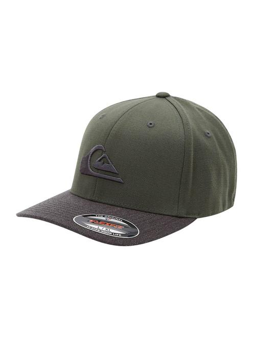 Quiksilver Men's Flexfit Cap ~ Mountain and Wave olive