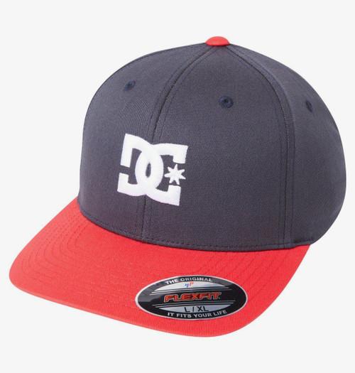 DC Shoes Men's Flexfit Cap ~ Capstar 2 blue red