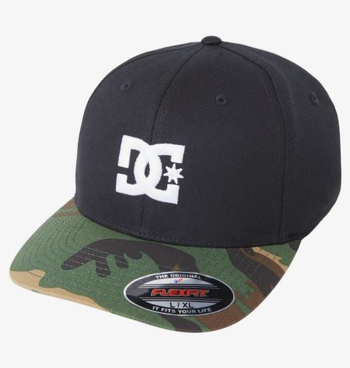 DC Shoes Men's Flexfit Cap ~ Capstar 2 black camo