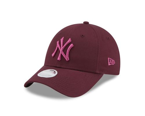 New Era Women's League Essential 9Forty Cap ~ New York Yankees burgundy