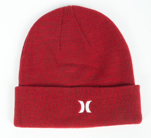 Hurley Men's Cuff Knit Beanie ~ Icon red
