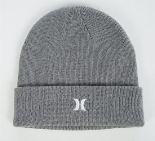 Hurley Men's Cuff Knit Beanie ~ Icon grey