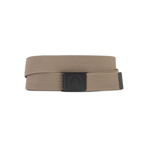 Volcom Woven  Web Belt With Bottle Opener ~ Circle brown