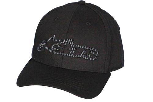 Alpinestars Medium Curve Flexible Cap ~ Blaze Fader black/char