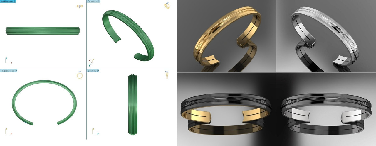 Logo to Jewelry-Bracelet and Ring for Men