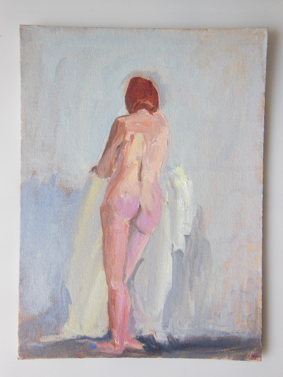Tamara S Gordon. Nude. Oil on canvas board #15